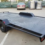 16 x 6.6 Ft Flat Bed Car Carrier Trailer