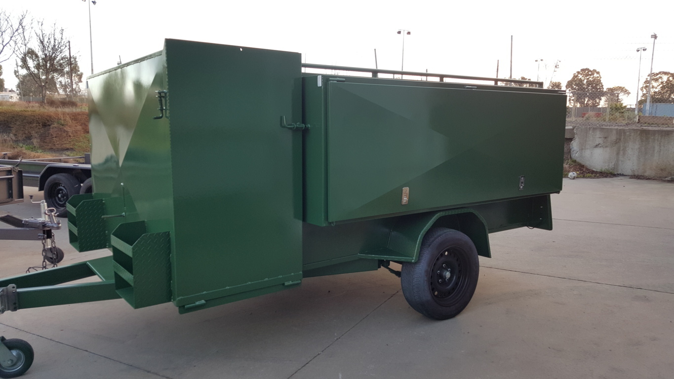 8 x 5 Lawn mowing Trailer (Green)