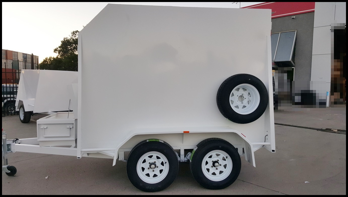 8×5 Tandem Enclosed Trailer Ramps Shelves