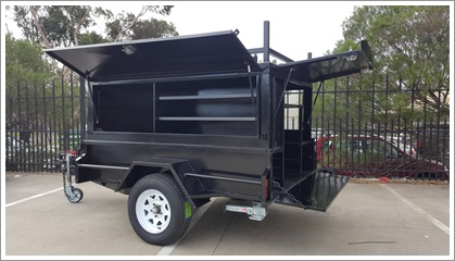 7×5 TRADESMAN TOP TRAILER Black (SQUARE)