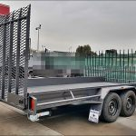 16×6.6 CAR CARRIER TRAILER (MESH RAMP)