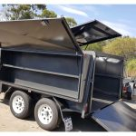 10 x 5 TANDEM LAWN MOWER TRAILER (LIFT UP ROOF COVER)