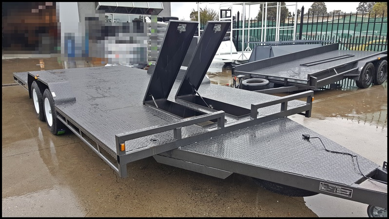 16×6.6 FT TANDEM CAR CARRIER FULL WIDTH FLOOR